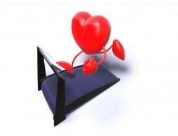 heart running on treadmill