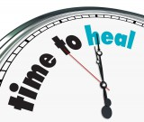 Clock displaying Time To Health