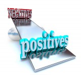 Positives outweighing negatives on a balancing scale