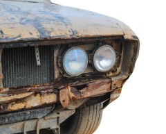 Vintage rusty car
