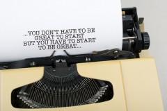 typed encouragement